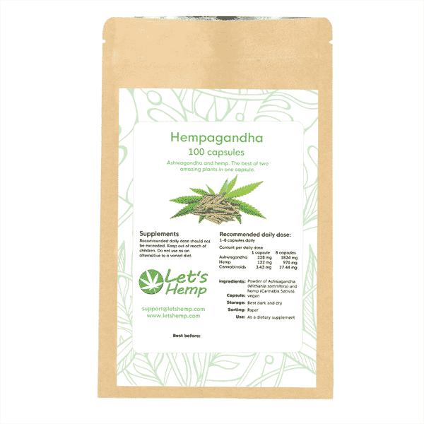 Hempagandha 100 capsules, 340 mg cannabinoids