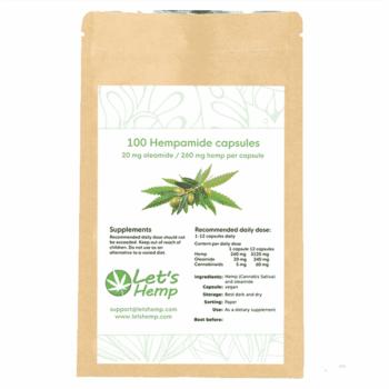 Hempamide 20 mg, 100 capsules