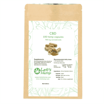 Hemp capsules 100, 700 mg Cannabinoids